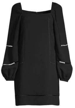 Trina Turk Women's Casa Mexico Natalia Puff-Sleeve Dress - Black - Size 2