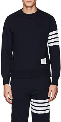 Thom Browne Men's Block-Striped Cotton Sweatshirt - Navy