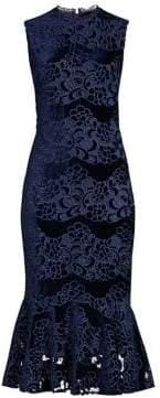 Shoshanna Women's Bolton Lace Midi Dress - Navy - Size 10