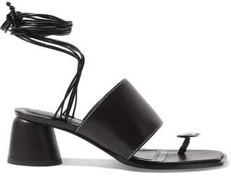Ellery Embellished Leather Sandals - Black