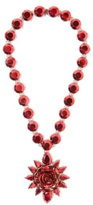 Prada Rose Pendant Necklace - Womens - Pink
