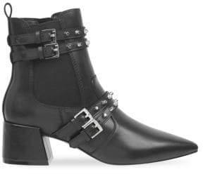 KENDALL + KYLIE Women's Rad Studded Leather Booties - Black - Size 7