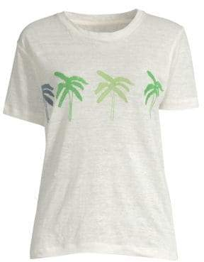 Banner Day Banner Day Women's Palm Tree Tee - Bone - Size 1 (XS)
