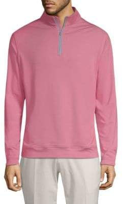 Peter Millar Men's Perth Half-Zip Sweater - Radish - Size Small