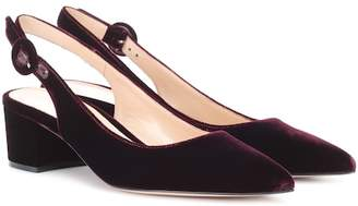 Gianvito Rossi Exclusive to mytheresa.com – Amee velvet slingback pumps
