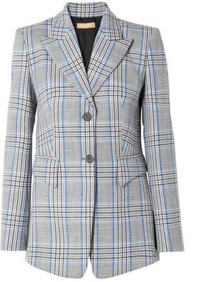 Michael Kors Plaid Wool Blazer - Blue