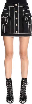 Balmain High Waisted Jersey Mini Skirt