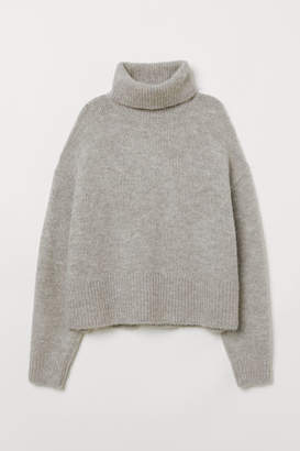 H&M Knit Turtleneck Sweater - Gray