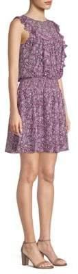 Shoshanna Women's Dalila Silk Popover Dress - Bubble Gum Multi - Size 8
