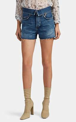 Atelier Jean Women's Flip Denim Cutoff Shorts - Blue