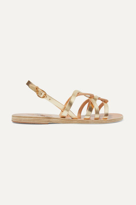 Ancient Greek Sandals Schinousa Metallic Leather Sandals - Gold