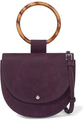 Theory Whitney Small Nubuck Shoulder Bag - Purple