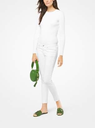 MICHAEL Michael Kors Floral Embellished Leather Mini Shoulder Strap