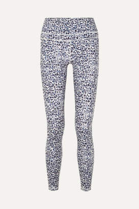 Varley - Biona Leopard-print Stretch Leggings - Gray