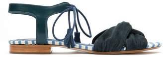 Sarah Chofakian lace up suede sandals