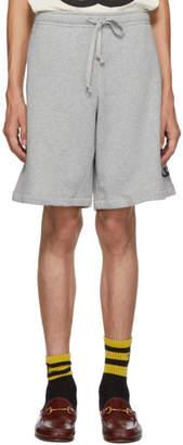 Gucci Grey Logo Shorts