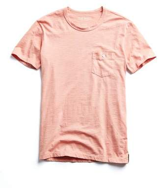 Todd Snyder Made in L.A. Garment Dyed T-Shirt in Fresh Peach