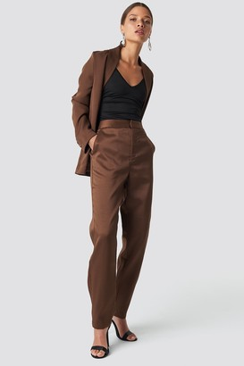 Na Kd Classic Fitted Suit Pants Brown