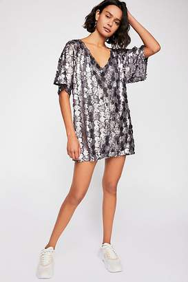 Sequin T-Shirt Mini Dress