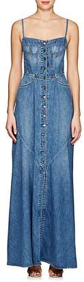 Atelier Jean Women's Agnes Denim Maxi Dress - Md. Blue