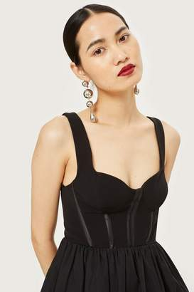Topshop Corset Puffball Mini Dress