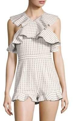 AMUR AMUR Women's Marlee Romper - White - Size 8