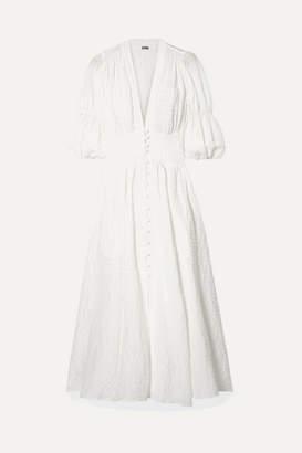 Cult Gaia Willow Seersucker Maxi Dress - White