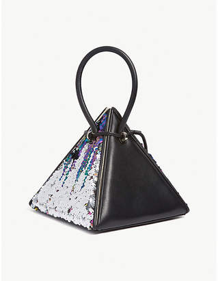 NITA SURI Lia sequinned leather handbag