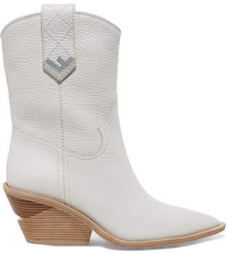 Fendi Textured-leather Boots - White