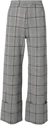 Sea Bacall Plaid Cuff Trousers