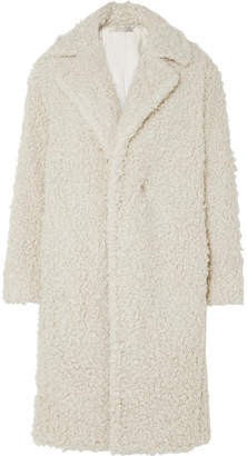 Vince Faux Shearling Coat - Cream
