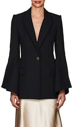 Prabal Gurung Women's Crepe Bell-Sleeve One-Button Blazer - Black