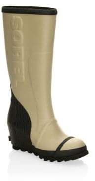 Sorel Joan Wedge Rubber Rain Boots