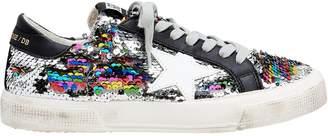 Golden Goose May Rainbow Sequin Low-Top Sneakers