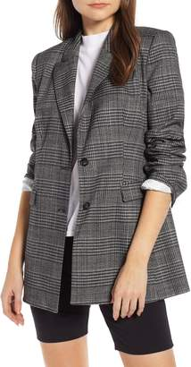 Something Navy Plaid Blazer