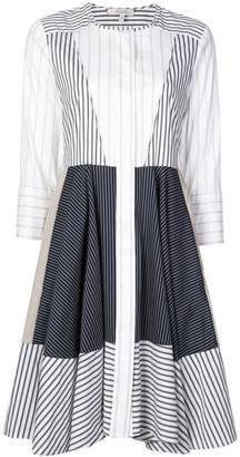Schumacher Dorothee striped patchwork shirt dress