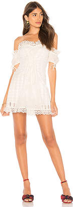 For Love & Lemons Anabelle Eyelet Lace Up Dress