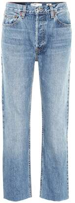 RE/DONE Cropped high-rise straight jeans
