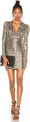 BCBGMAXAZRIA Metallic Shirred Dress