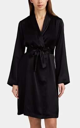 La Perla Women's Silk Satin Robe - Black