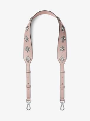 MICHAEL Michael Kors Floral-Embellished Leather Shoulder Strap