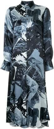 Y's patchwork shirt-dress