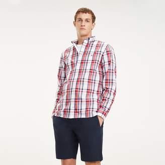 Tommy Hilfiger Regular Fit Cotton Poplin Plaid Shirt