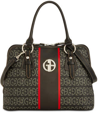 Giani Bernini Block Signature Stripe Dome Satchel