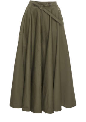 Martin Grant Belted Cotton Circle Skirt