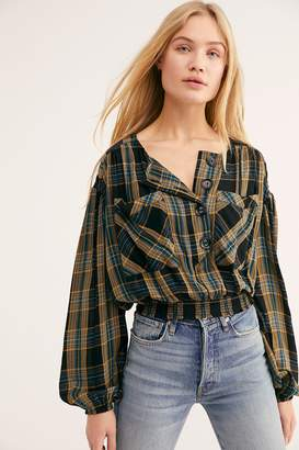 Its The Good Life Plaid Top