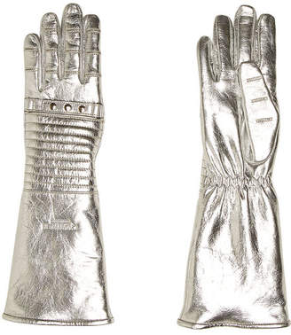 Calvin Klein Metallic Leather Gloves
