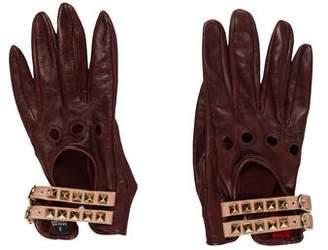 Valentino 2017 Rockstud Leather Gloves