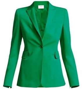 Akris Punto Women's One-Button Stretch Wool Blazer - Green - Size 8