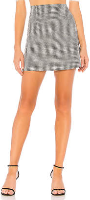 MinkPink Houndstooth Mini Skirt